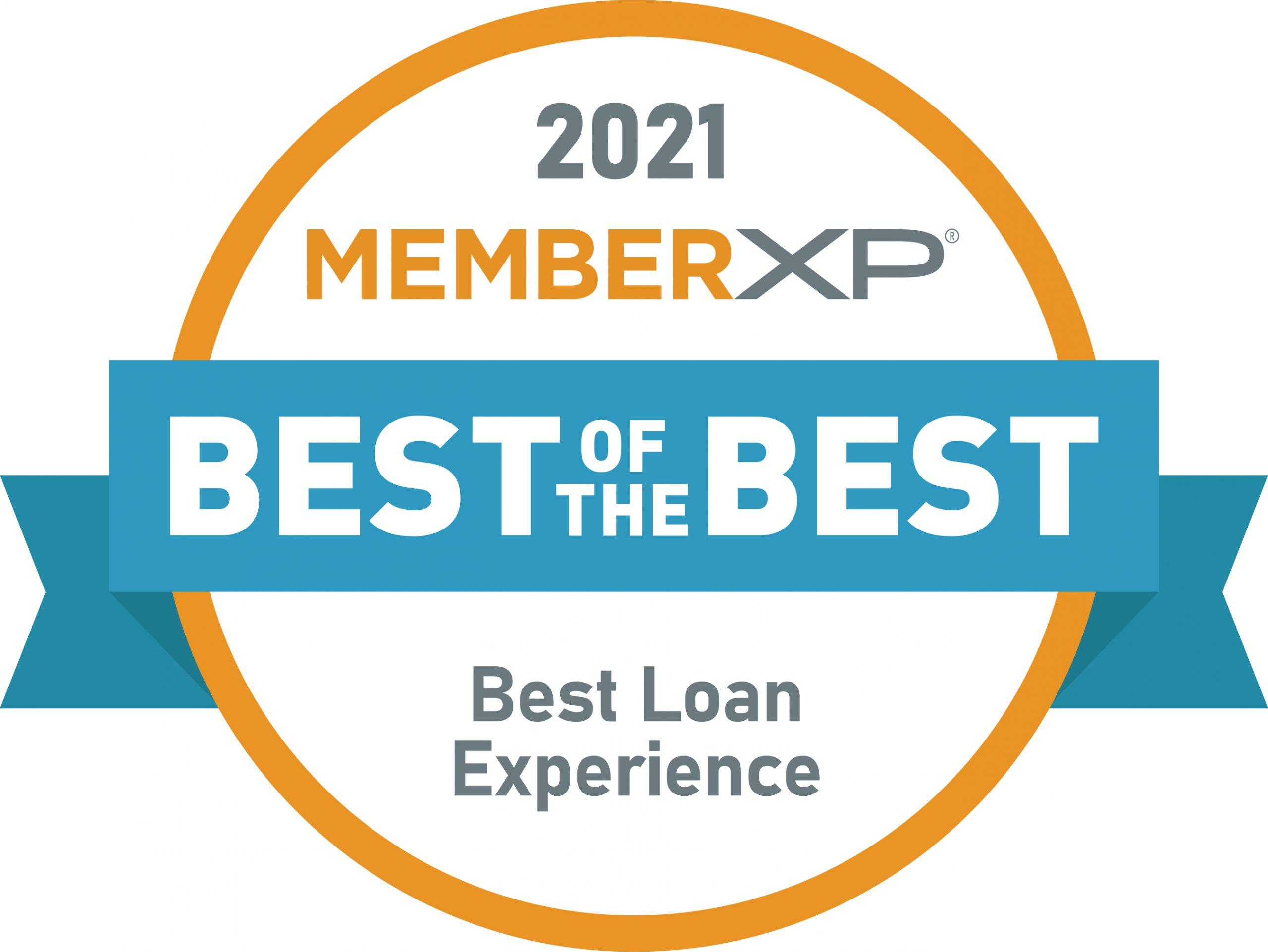 MemberXP_Best_Loan_Experience_Seal
